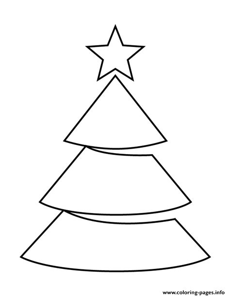 Christmas Tree With Star Topper Stencil Coloring Pages Tree Topper Coloring Page