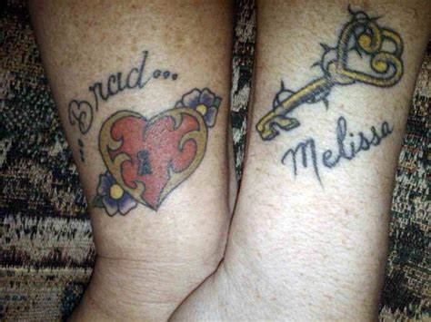 heart and lock tattoos for couples couples tattoos top 25 as voted by our panel