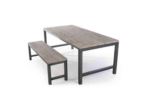 tafel maken constructie steigerhouten tafel met stalen onderstel tafels met metaal