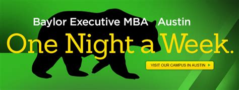 Mba Md Program Baylor Curriculum by Executive Mba Program In Baylor