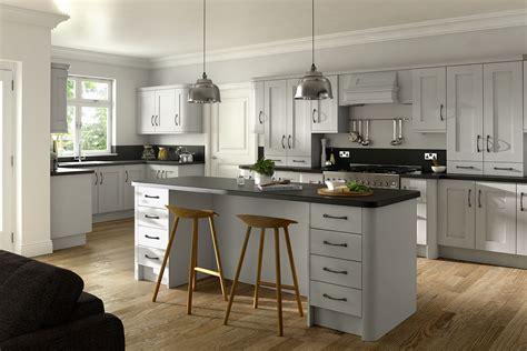 Dove Grey Kitchen Cabinets Buckingham Dove Grey Ash Matt Finish Kitchen Cabinet Doors Topdoors