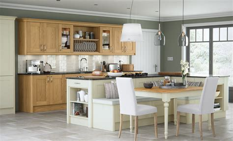 Pictures Of Kitchen Cabinets With Handles by Madison Contemporary Oak Kitchen Stori