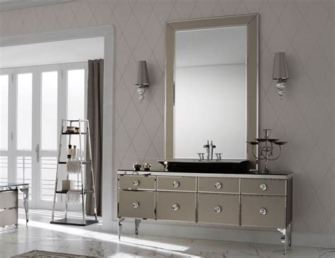 high end bathroom vanity cabinets milldue majestic 10 bronze lacquered glass high end