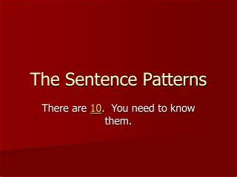 sentence pattern english grammar ppt ppt sentence patterns powerpoint presentation id 5439787