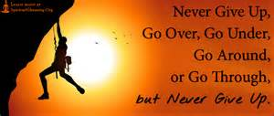 Never Give Up ~ The Journey Inward