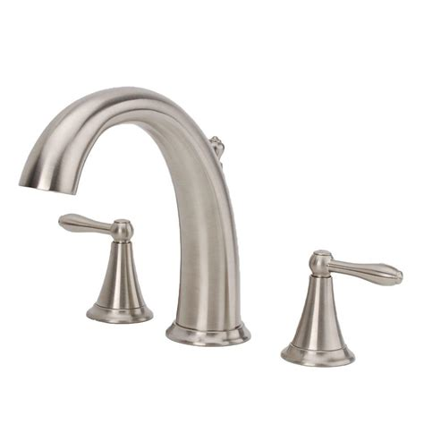 nickel bathtub fontaine montbeliard 2 handle deck mount roman tub faucet