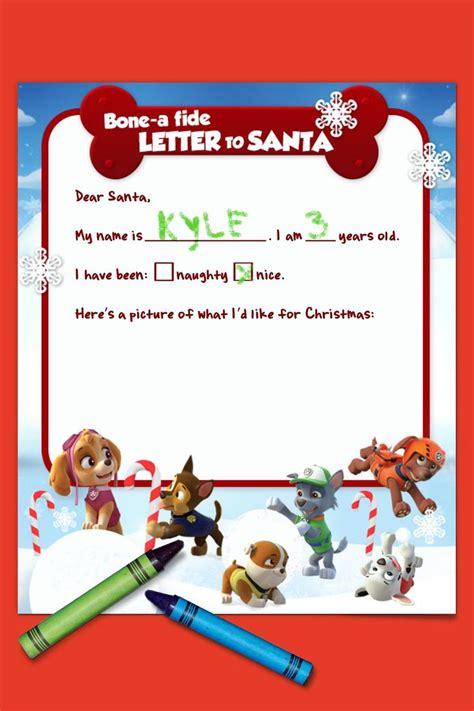 Paw Patrol Letter To Santa Paw Patrol Santa And Birthdays Letter To Santa Template Ks1