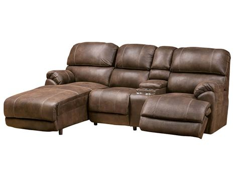 reclining chaise sofa slumberland homeland collection left chaise sofa