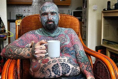 most tattooed person britain s most tattooed could lose an arm daily mail