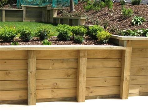 Wood Garden Wall Pros And Cons Of Wooden Retaining Walls Interior Design