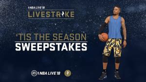 Strike It X Sweepstakes - nba live 18 patch 1 09 released livestrike sweepstakes nlsc