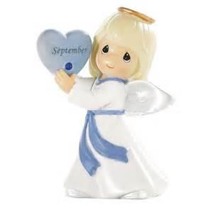 precious moments september angel figure sapphire birthstone