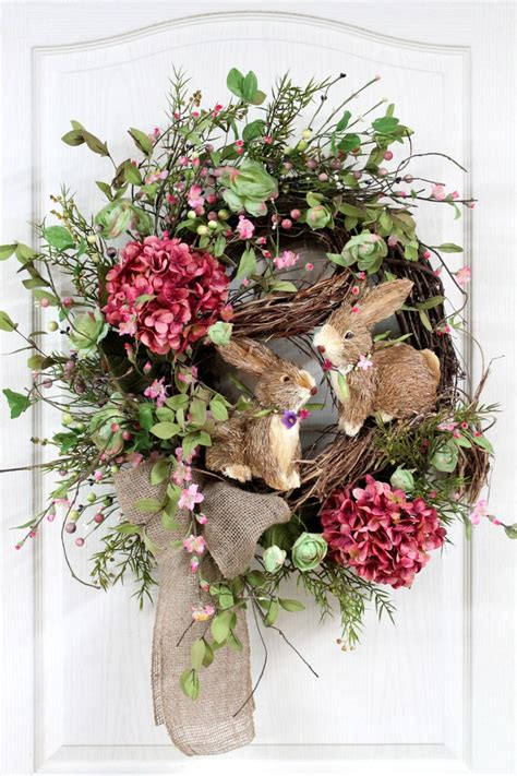 spring wreaths easter door wreath front door porch decor pinterest