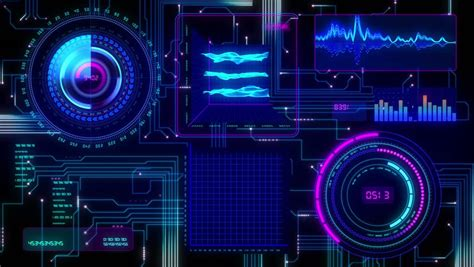 futuristic technological interface background seamless