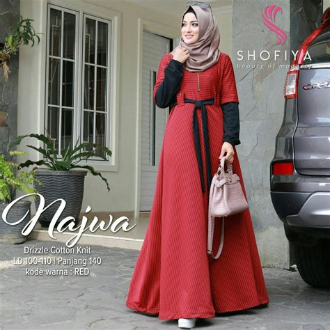 Gamis Dress Ori Najwa cara cermat membeli baju gamis brokat tanah abang paling