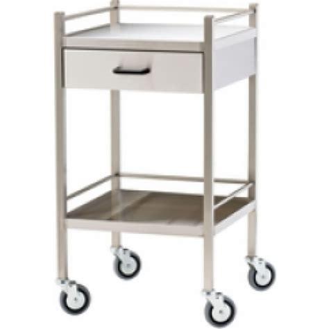 Instrument Trolley 1 instrument trolley 2 shelf 1 draw stainless steel