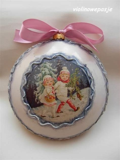 how to decoupage a plastic clear ball with a picture 1262 best images about on snowflakes ornament and decoupage