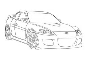 Mazda Rx 8 Coloring Pages Sketch Page sketch template