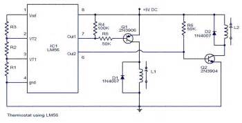 lm56 thermostat project circuit diagram electronic circuit schematic wiring diagram