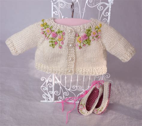 embroider knitting embroidered knit cardigan for effner s