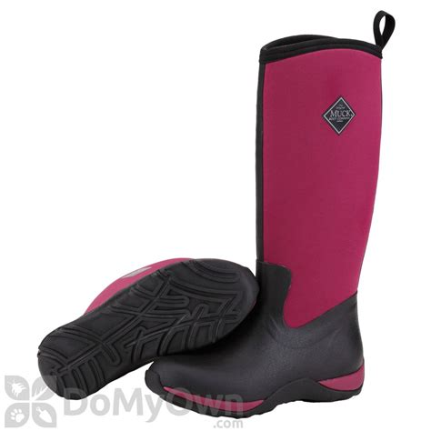 womans muck boots muck boots arctic adventure s black maroon boot