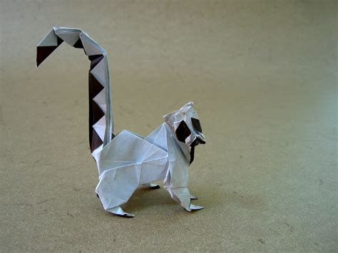 Origami Lemur - ring tailed lemur rom 225 n d 237 az happy folding