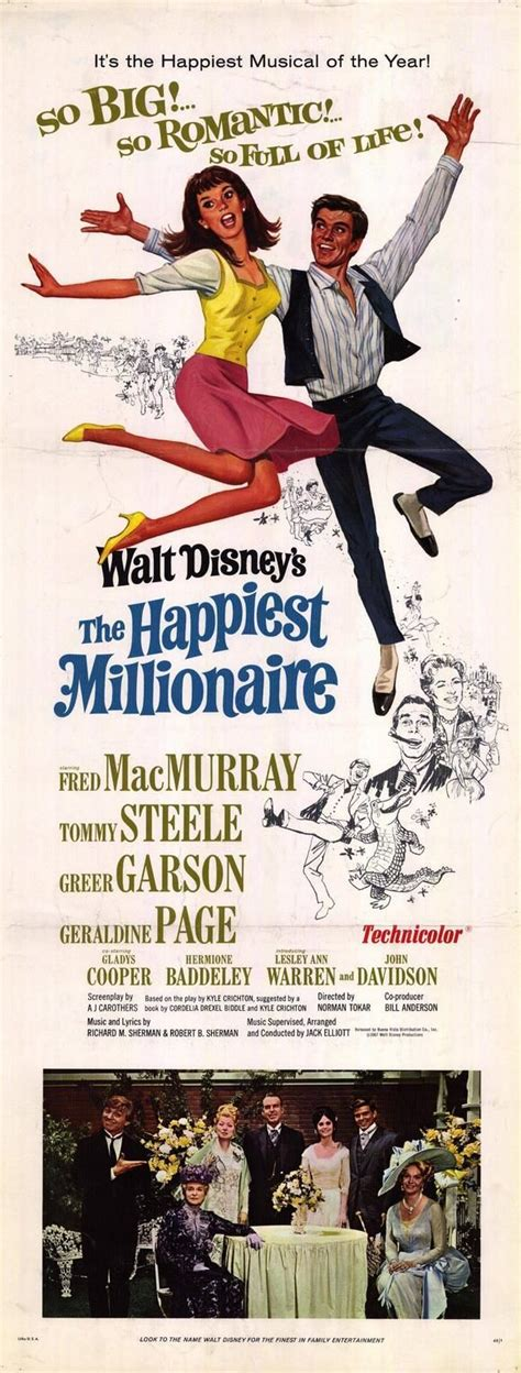 what disney film is garson on quot the happiest millionaire quot 1967 fred macmurray tony
