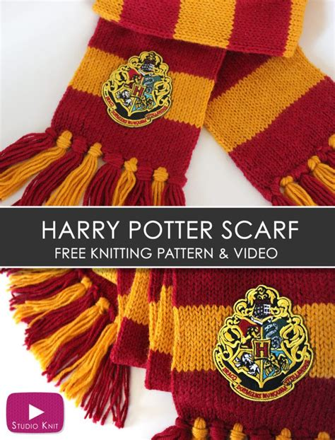 harry potter scarves knitting patterns 25 best ideas about harry potter gryffindor scarf on