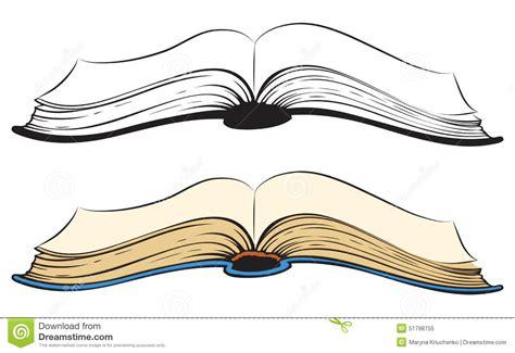 open sketch open book vector sketch stock vector illustration of