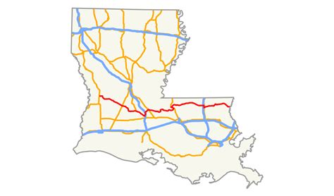 louisiana map i 10 louisiana highway 10