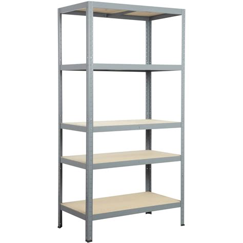 etagere 90 cm largeur etag 232 re acier strong 5 tablettes gris l 90 x h 176 x p