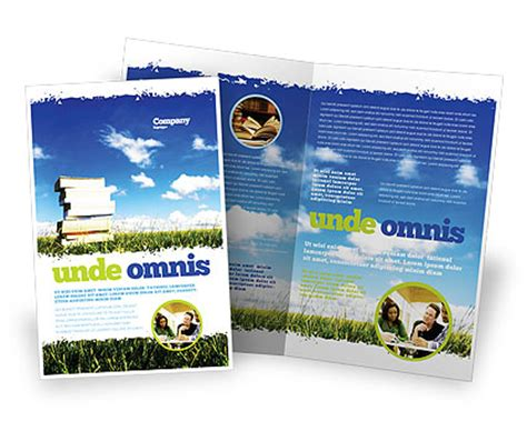 book pile brochure template design and layout download