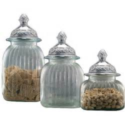canisters artland piece clear glass canister set with mayfair decorative kitchen and jars