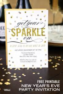 New Year Invite Templates Free by Free Printable New Year S Invitation