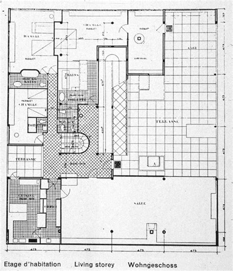 villa savoye floor plan dwg preliminary shapes strategy someone has built it before