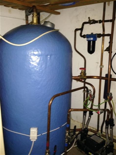 Replacement hot water tank, Wheathampstead