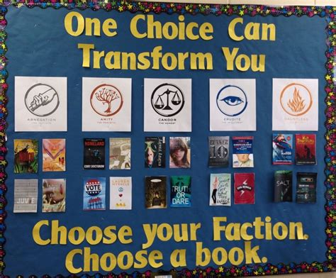 choose and book reports divergent display choose your faction choose a book