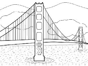 color of golden gate bridge golden gate bridge coloring page