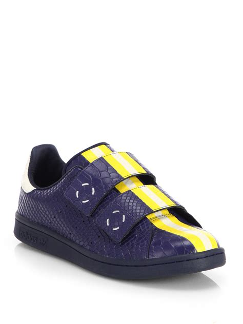 Raf Simons Shoes Blue by Adidas By Raf Simons Raf Doublevelcro Sneakers In Blue For Navy Yellow Lyst