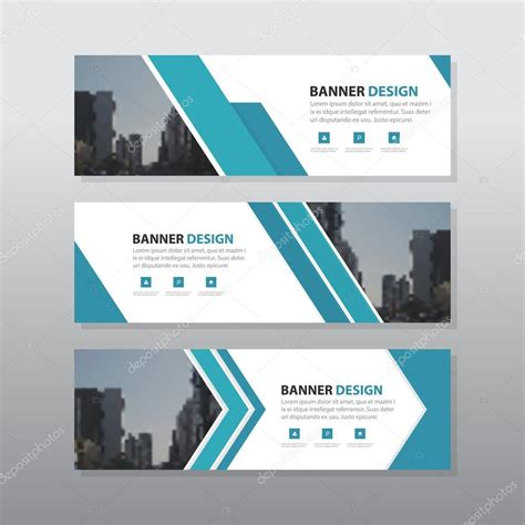 banner image layout blue abstract corporate business banner template