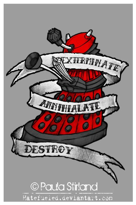 dalek tattoo designs dalek by hatefueled on deviantart