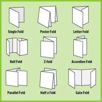 Kinds Of Paper Folding - what are the different types of folding colorfx inc