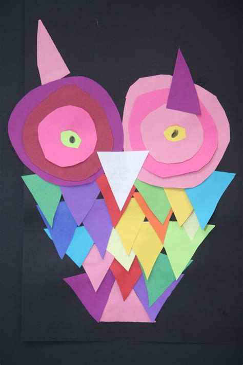Paper Craft Owl - construction paper owls summer with the