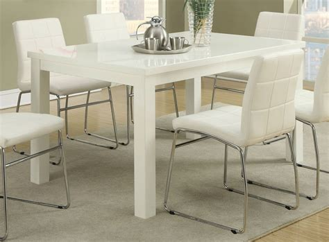 Wood Dining Table With White Chairs Poundex F2407 White Wood Dining Table A Sofa Furniture Outlet Los Angeles Ca