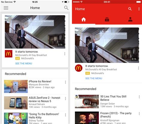 youtube app layout youtube app gets a major redesign