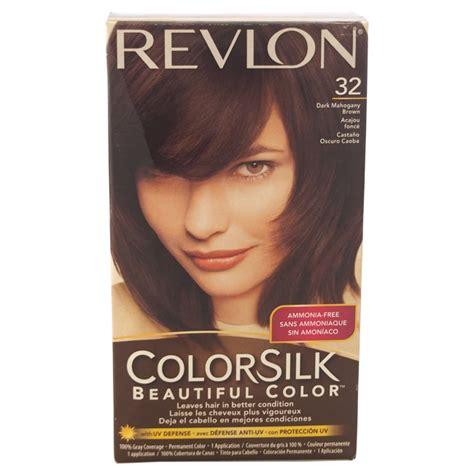 revlon mahogany hair color colorsilk beautiful color 32 mahogany brown by