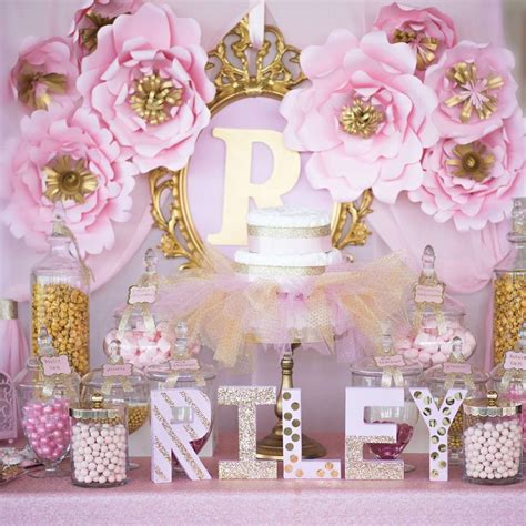 Baby Shower Theme by Shimmering Pink And Gold Baby Shower Baby Shower Ideas