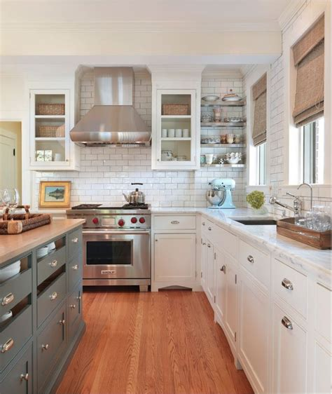white cabinets with silver clamshell pulls different