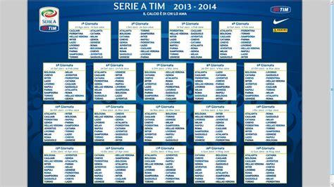 Calendario Serie A Napoli Il Calendario Della Serie A Tim 2013 2014 Calciatori