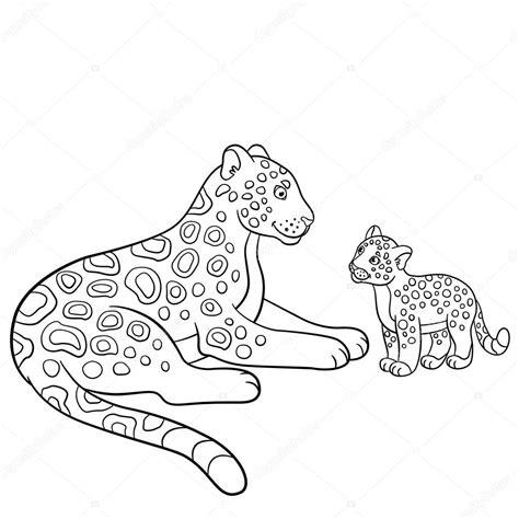 imagenes de jaguar para descargar dibujos para colorear madre jaguar con su cachorro